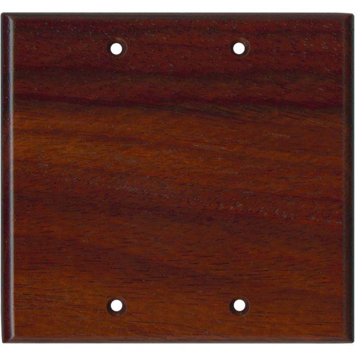 Padauk Satin Lacquer - Double Blank Wallplate Covers