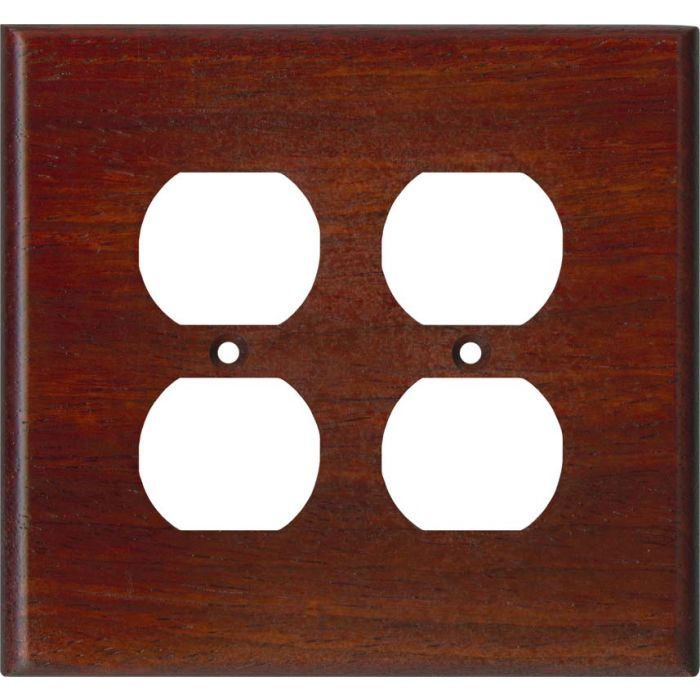 Padauk Satin Lacquer - 2 Gang Electrical Outlet Covers