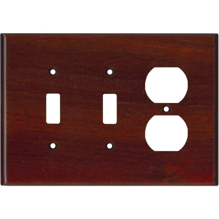 Padauk Satin Lacquer - 2 Toggle/Outlet Combo Wallplates
