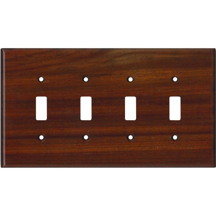 Padauk Satin Lacquer - 4 Toggle Light Switch Covers