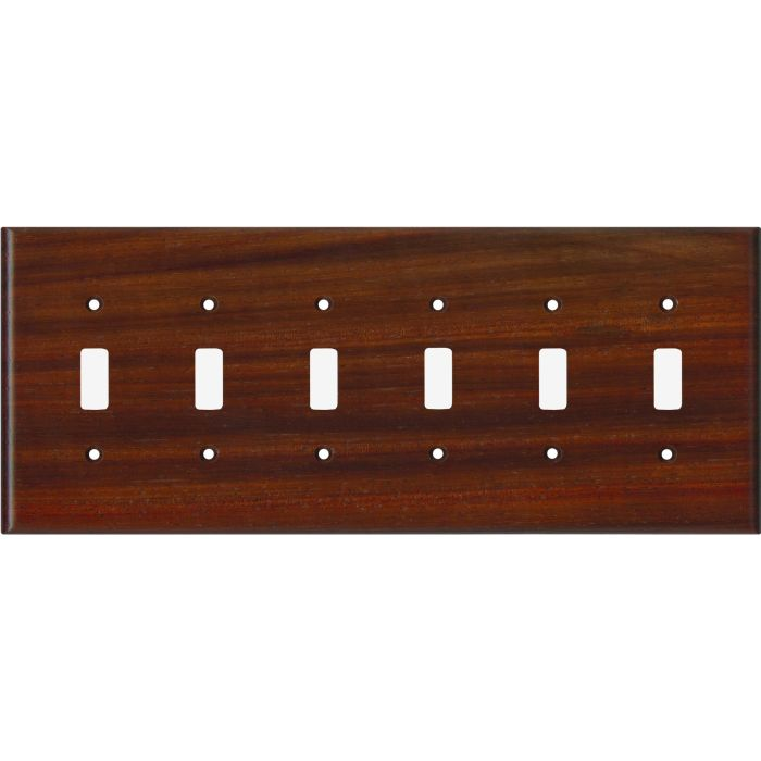 Padauk Satin Lacquer 6 Toggle Light Switch Covers