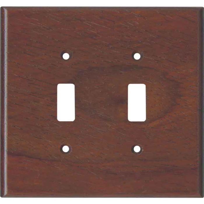 Padauk Unfinished2 Toggle Switch Plates