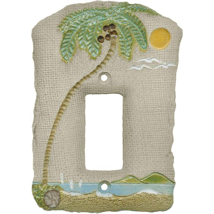 Palm Tree Island Single 1 Gang GFCI Rocker Decora Switch Plate Cover