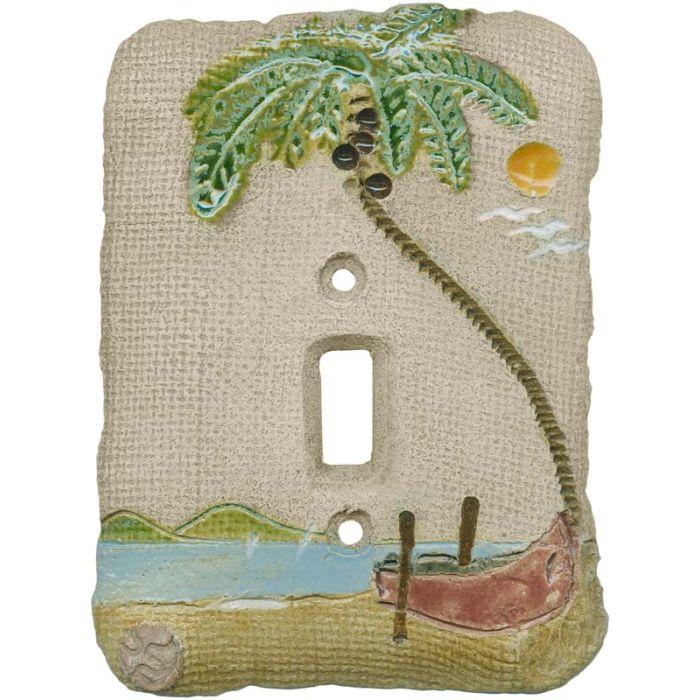 Palm Tree Island Single 1 Toggle Light Switch Plates