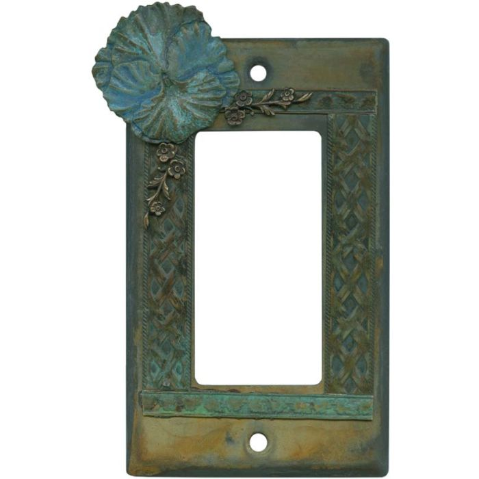 Pansy Flower Single 1 Gang GFCI Rocker Decora Switch Plate Cover