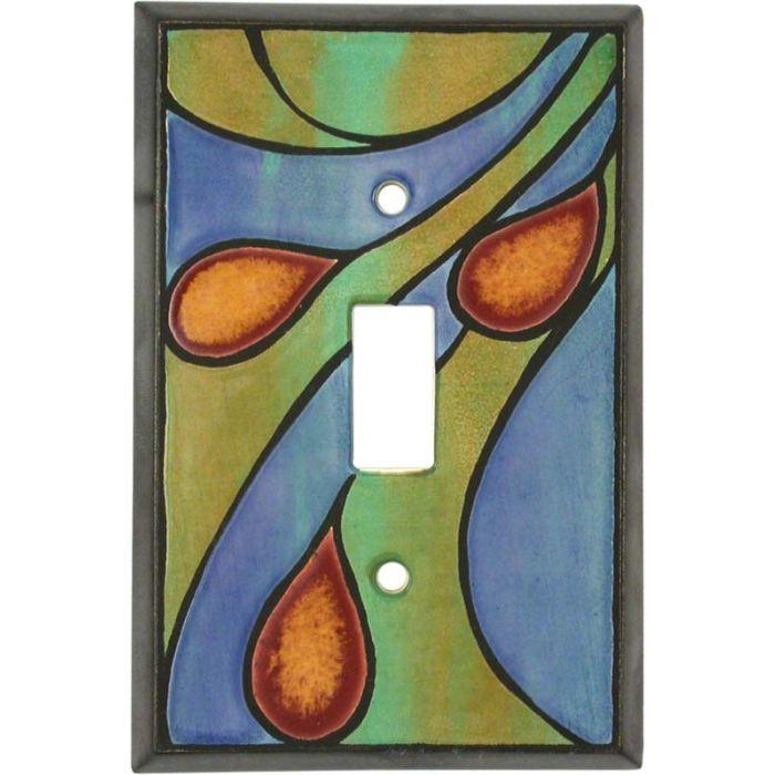 Peacock Ceramic Single 1 Toggle Light Switch Plates