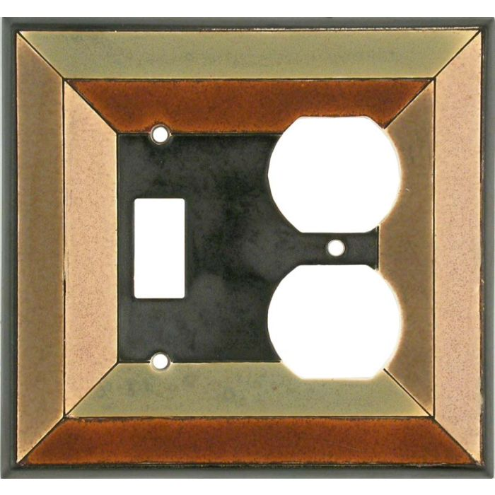 Perspective Ceramic Combination 1 Toggle / Outlet Cover Plates