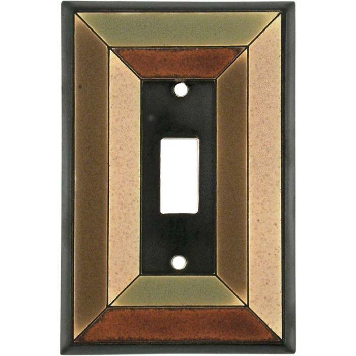 Perspective Ceramic Single 1 Toggle Light Switch Plates