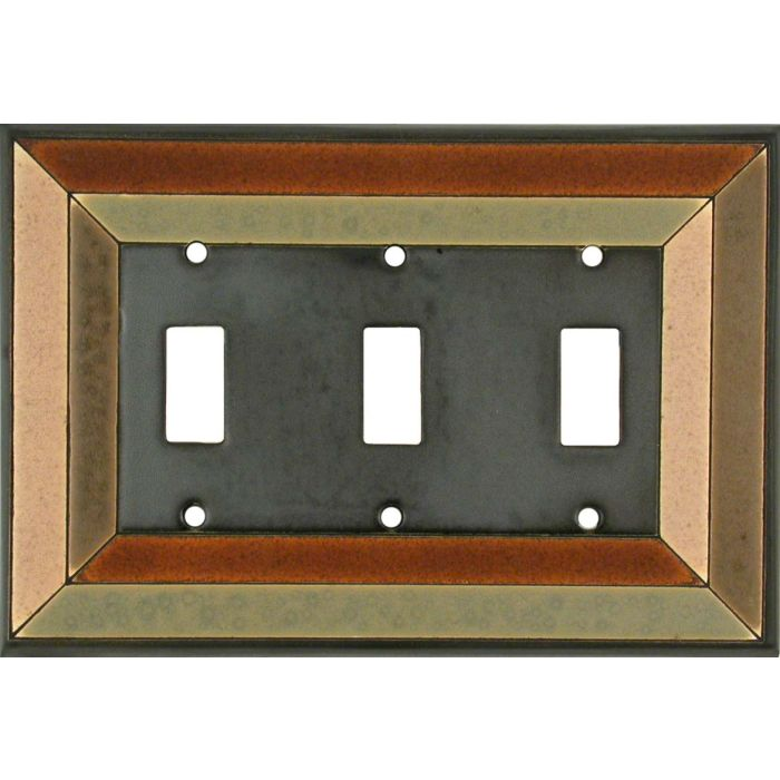 Perspective Ceramic Triple 3 Toggle Light Switch Covers