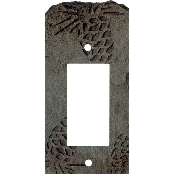 Pine Cone Petra Single 1 Gang GFCI Rocker Decora Switch Plate Cover