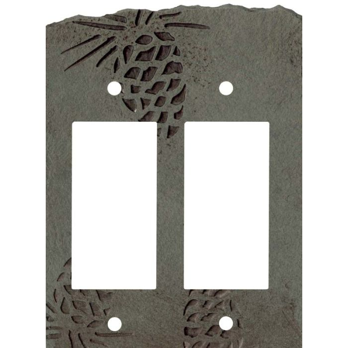 Pine Cone Petra 2 Gang Double GFCI Rocker Decorator Wallplates