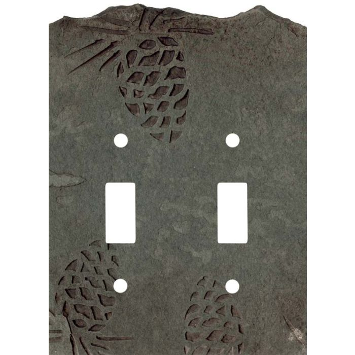 Pine Cone Petra Double 2 Toggle Switch Plate Covers