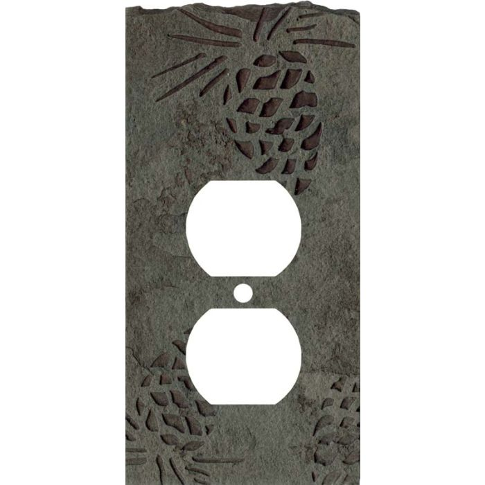 Pine Cone Petra 1 Gang Duplex Outlet Cover Wall Plate