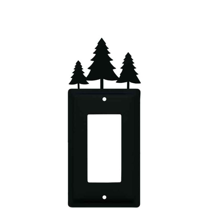 Pine Trees Single 1 Gang GFCI Rocker Decora Switch Plate Cover