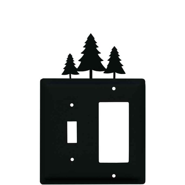 Pine Trees Combination 1 Toggle / Rocker GFCI Switch Covers