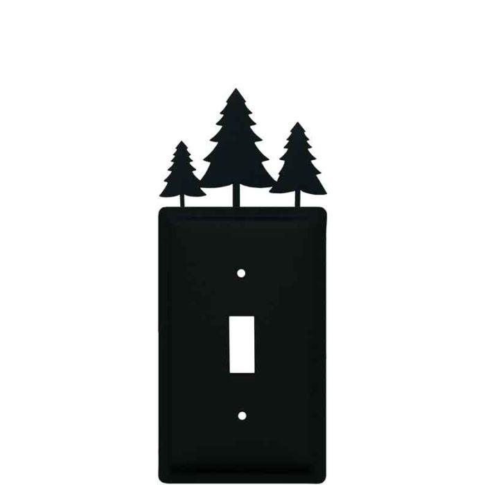 Pine Trees Single 1 Toggle Light Switch Plates
