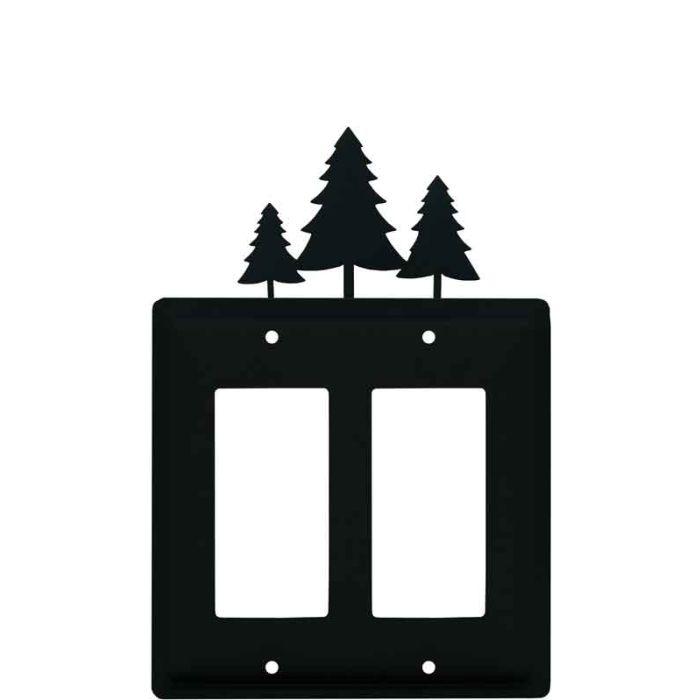 Pine Trees 2 Gang Double GFCI Rocker Decorator Wallplates