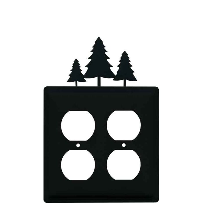 Pine Trees 2 Gang Duplex Outlet Wall Plate Cover
