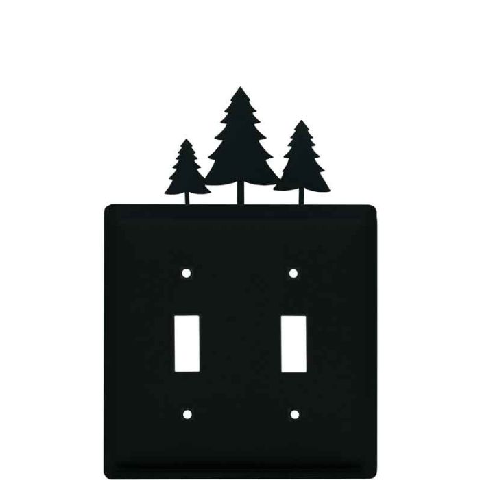 Pine Trees Double 2 Toggle Switch Plate Covers