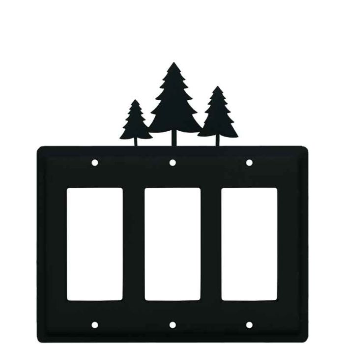 Pine Trees Triple 3 Rocker GFCI Decora Light Switch Covers
