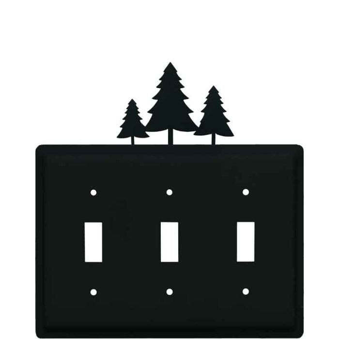 Pine Trees Triple 3 Toggle Light Switch Covers