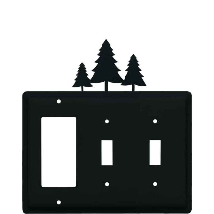 Pine Trees 1-Gang GFCI Decorator Rocker Switch Plate Cover
