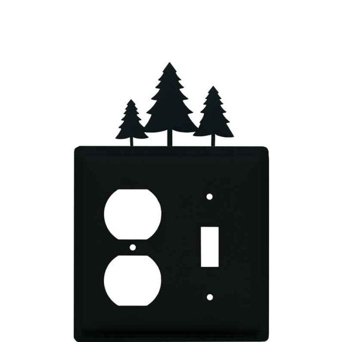 Pine Trees1-Duplex / 1-Toggle - Combination Wall Plates