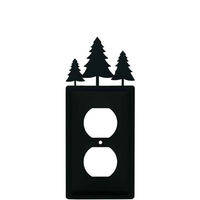 Pine Trees 1 Gang Duplex Outlet Cover Wall Plate