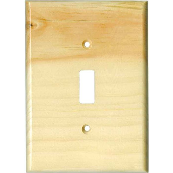 Pine White Satin Lacquer Single 1 Toggle Light Switch Plates