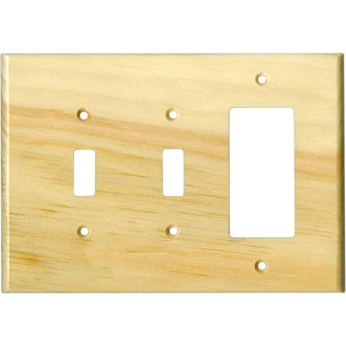 Pine White Satin Lacquer - 2 Toggle/1 GFCI Rocker Switchplates