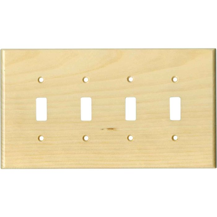 Pine White Satin Lacquer4 - Toggle Light Switch Covers & Wall Plates