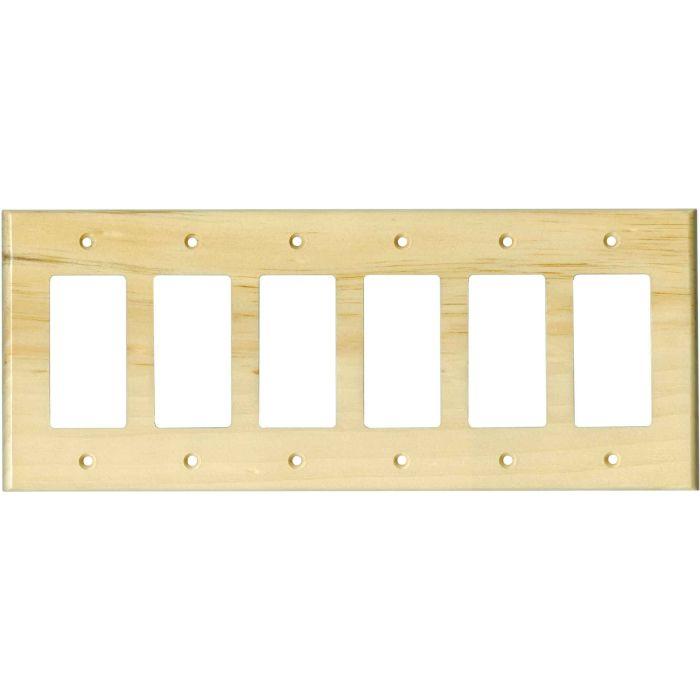 Pine White Satin Lacquer- 6 GFI Rocker Decora