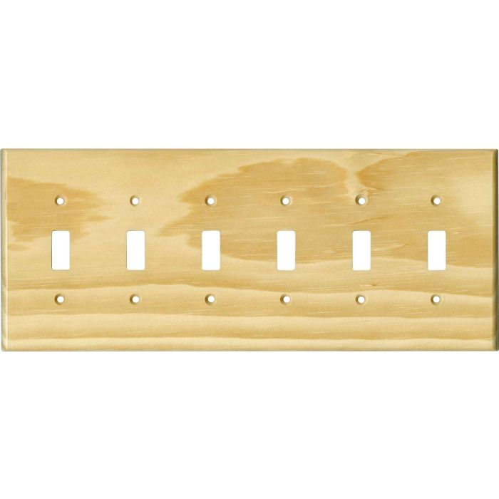 Pine White Satin Lacquer 6 Toggle Wall Plate Covers