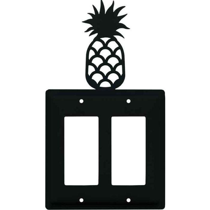 Pineapple 2 Gang Double GFCI Rocker Decorator Wallplates