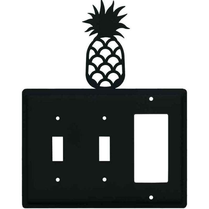 Pineapple Double 2 Toggle / 1 GFCI Rocker Combo Switchplates