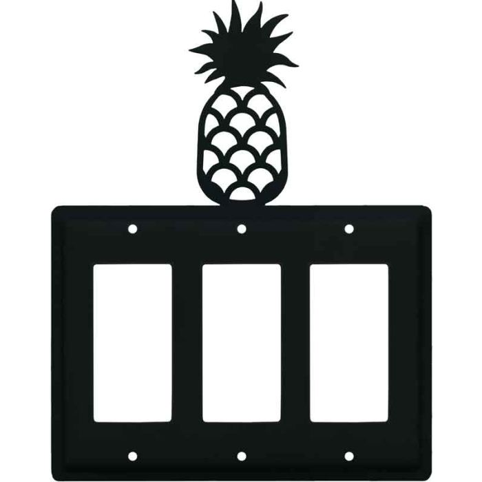 Pineapple Triple 3 Rocker GFCI Decora Light Switch Covers