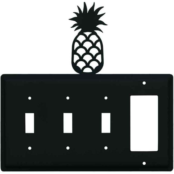 Pineapple Triple 3 Toggle / 1 Rocker GFCI Switch Covers