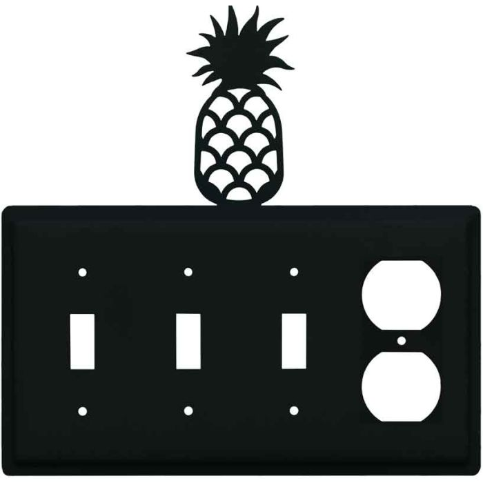 Pineapple Combination Triple 3 Toggle / Outlet Wall Plate Covers