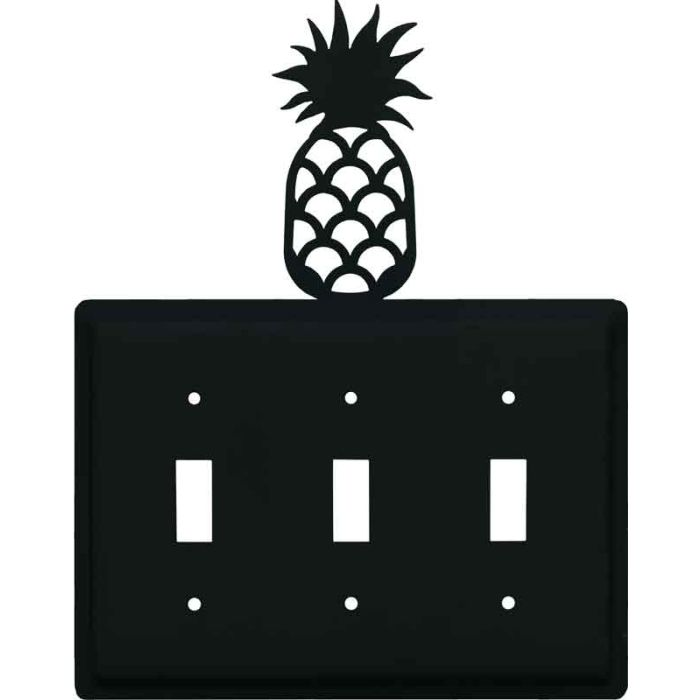 Pineapple Triple 3 Toggle Light Switch Covers