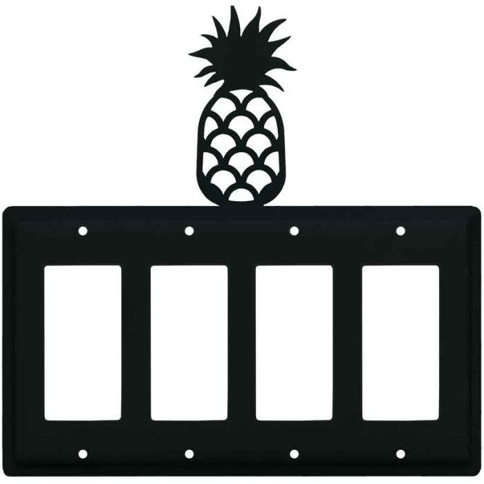 Pineapple 4 Rocker GFCI Decorator Switch Plates