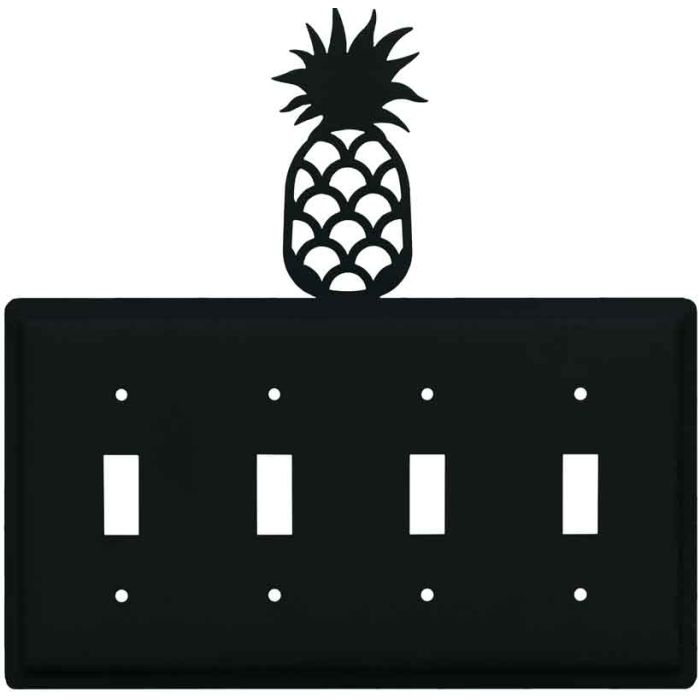 Pineapple Quad 4 Toggle Light Switch Covers