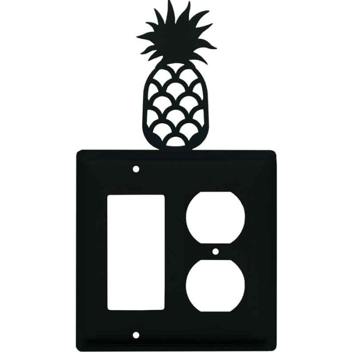 Pineapple Combination GFCI Rocker / Duplex Outlet Wall Plates