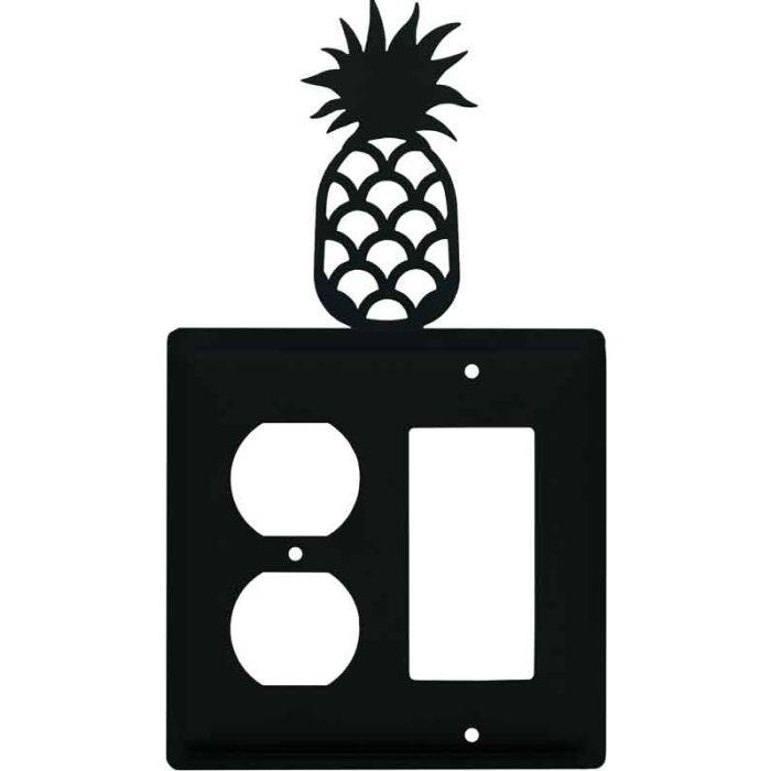 Pineapple 1-Duplex / 1 Decorator Rocker - Combination Switch Cover