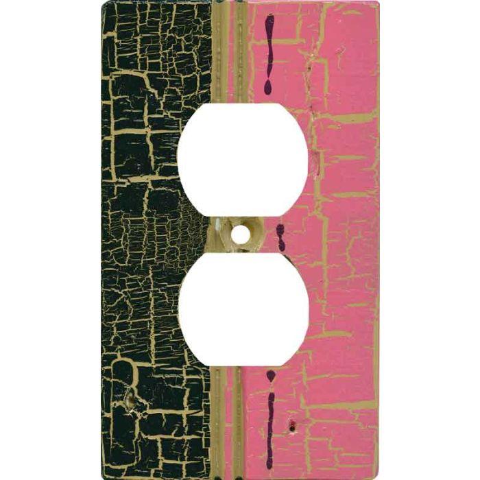 Pink - Black Crackle
