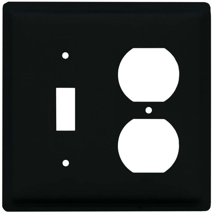 Plain Combination 1 Toggle / Outlet Cover Plates