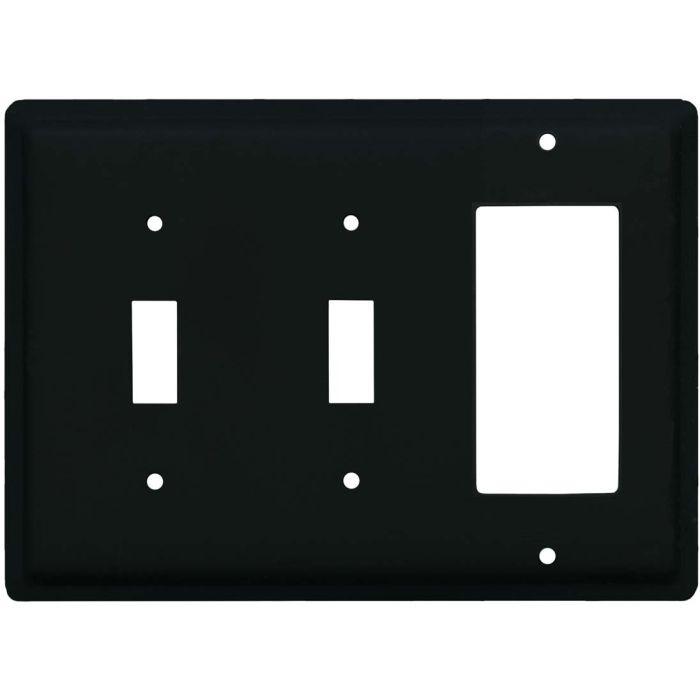 Plain Double 2 Toggle / 1 GFCI Rocker Combo Switchplates