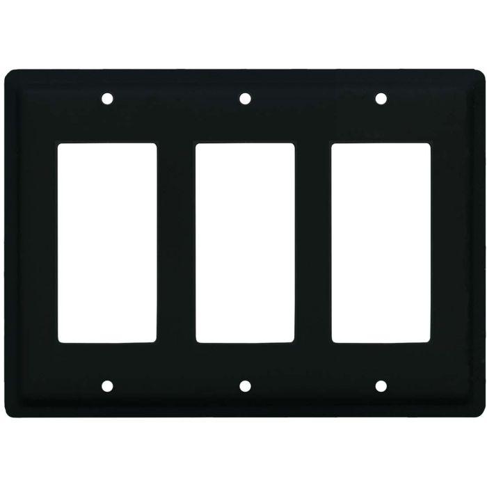 Plain Triple 3 Rocker GFCI Decora Light Switch Covers
