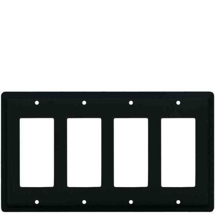Plain 4 Rocker GFCI Decorator Switch Plates