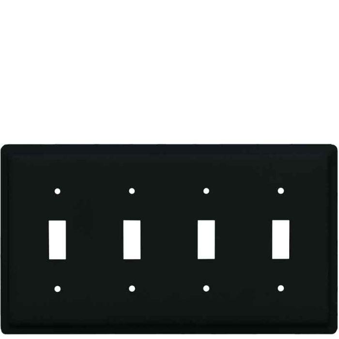 Plain Quad 4 Toggle Light Switch Covers