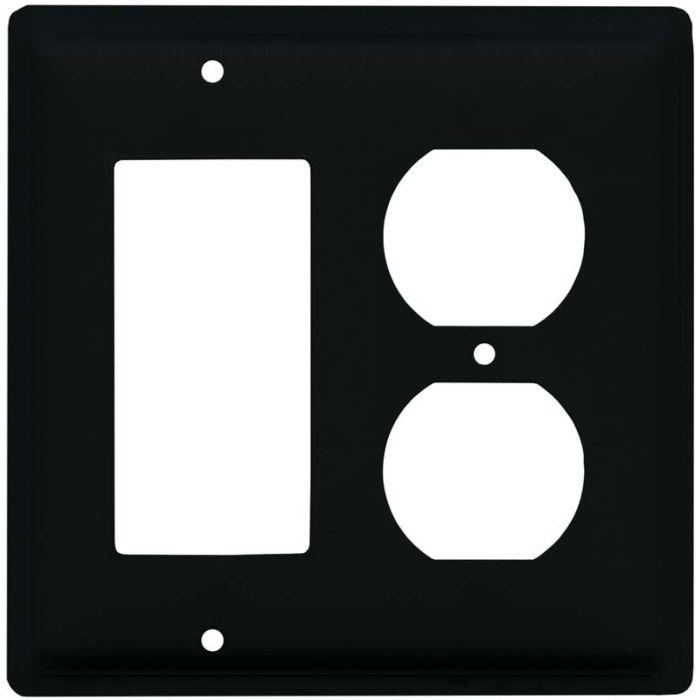 Plain Combination GFCI Rocker / Duplex Outlet Wall Plates